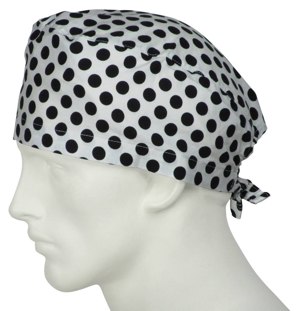 Surgical Scrub Caps Ta Dot BW
