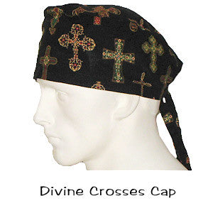 Surgical Caps Divine Crosses