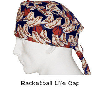 Medical Scrub Cap Basketball Life