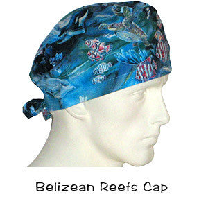 Doctors Scrub Hats Belizean Reefs