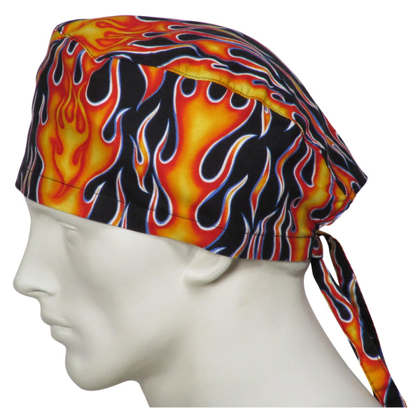 Scrub Caps Flames