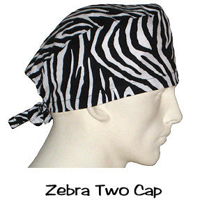 Scrub Caps Zebra Two