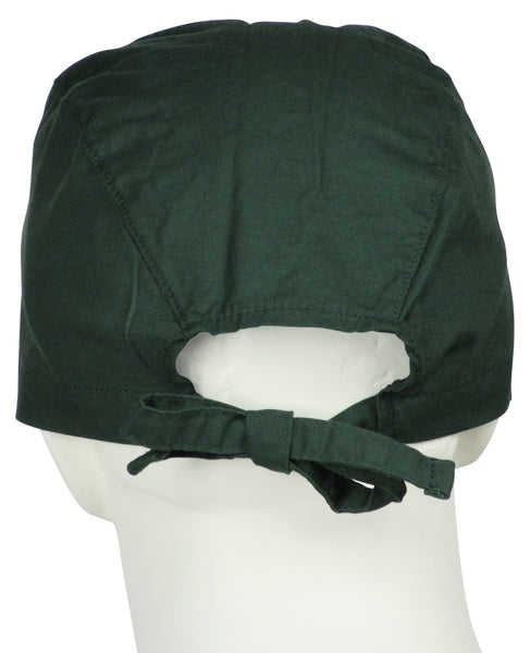Surgical Scrubs Cap Hunter Green