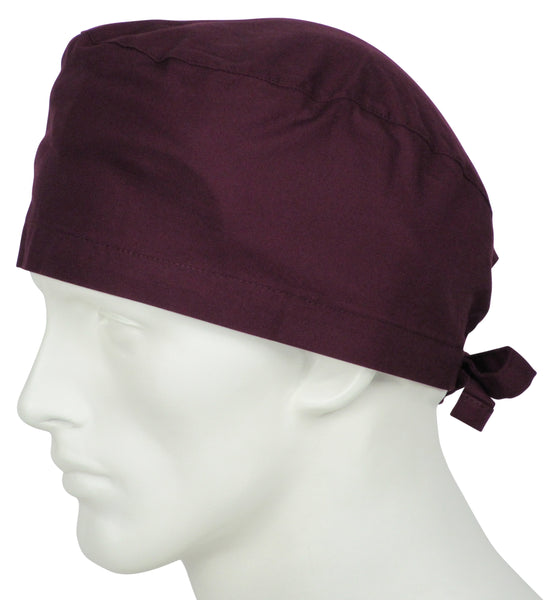 Surgical Caps Wine Burgundy