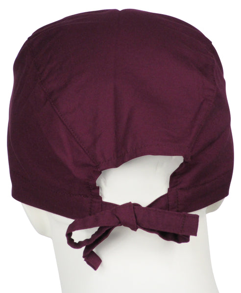 Scrub Surgical Caps Wine Burgundy