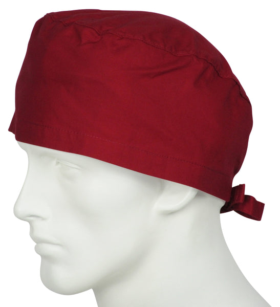 Surgical Caps Cherry Red