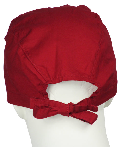 Scrubs Cap Cherry Red