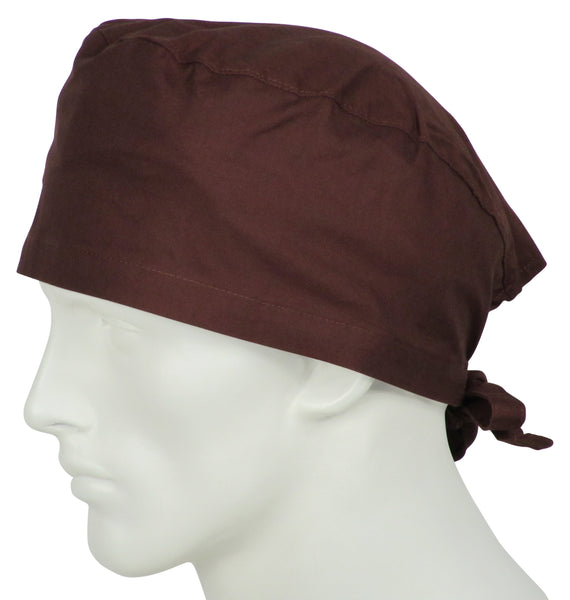 Scrub Caps Chocolate Brown