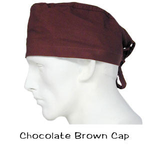 Scrub Surgical Cap Chocolate Brown