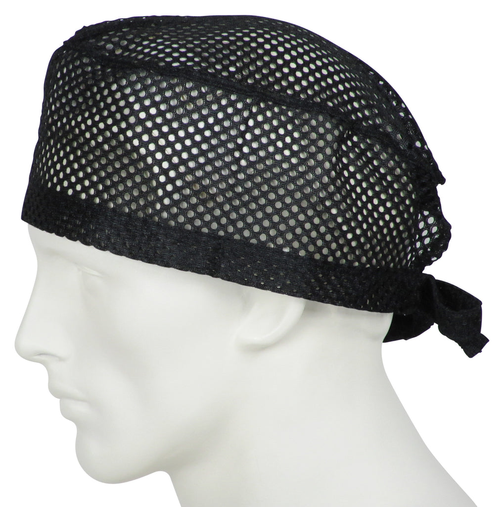 Surgical Cap Big Hole Black