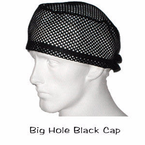 Big Hole Black Surgical Caps