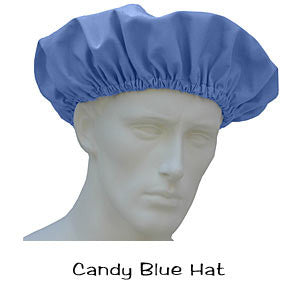 Candy Blue Bouffant Surgical Hats