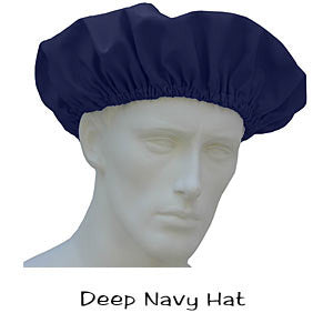 Deep Navy Surgical Bouffant Hats