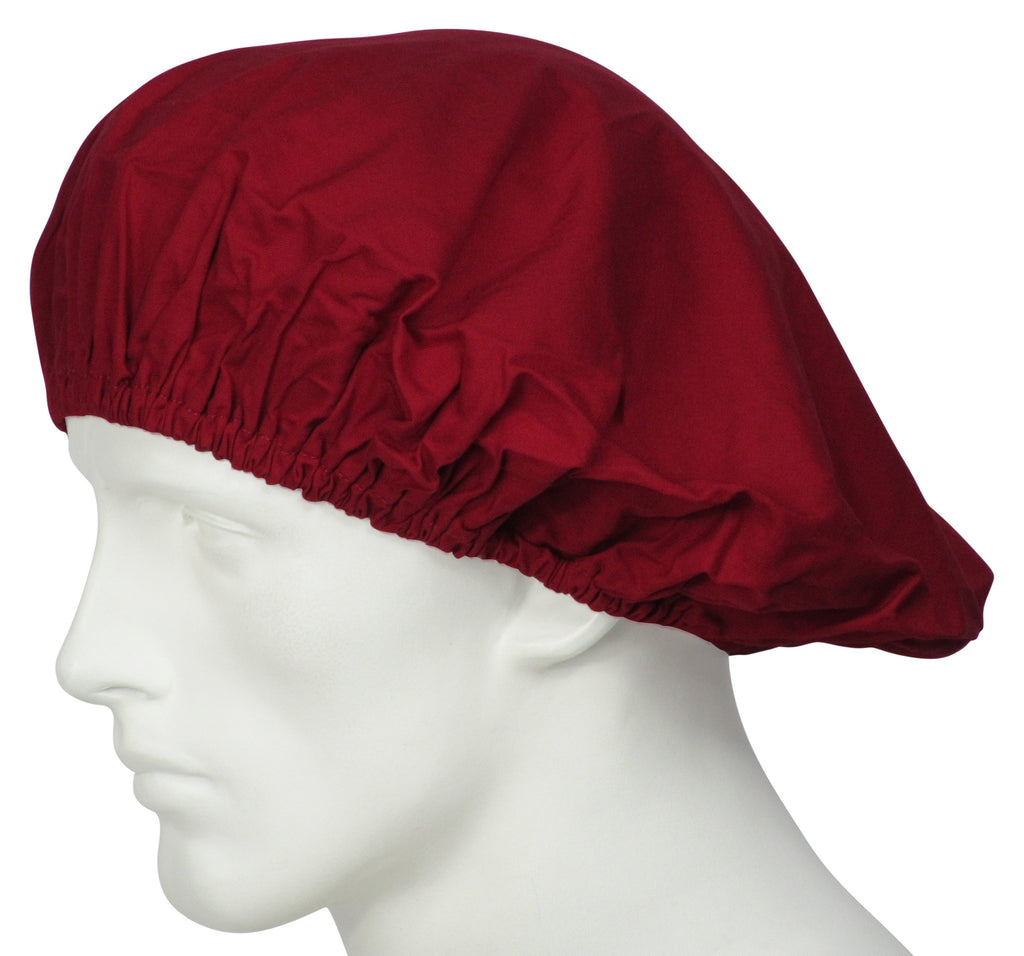 Bouffant Surgical Hats Cherry Red