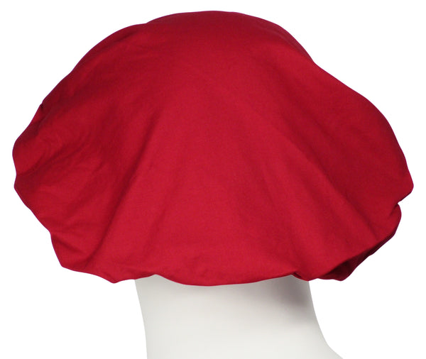 Bouffant Surgical Cap Cherry Red