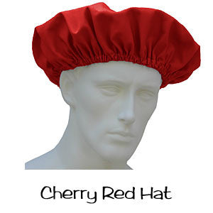 Scrub Bouffant Hat Cherry Red