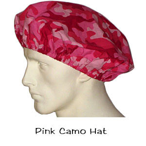 Bouffant Surgical Hats Pink Camo