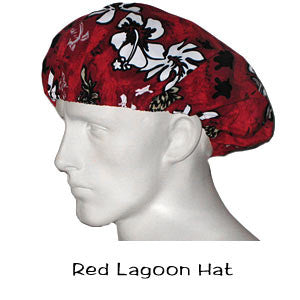 Bouffant Surgical Hats Red Lagoon