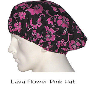 Bouffant Surgical Hats Lava Flower Pink