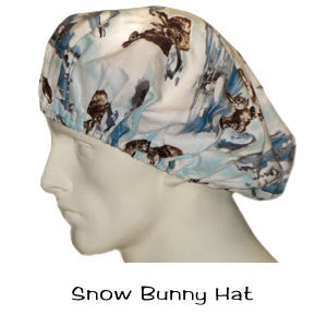 Bouffant Surgical Hats Snow Bunny