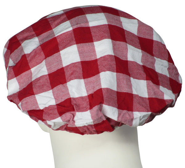 Bouffant Surgical Caps Gingham Red