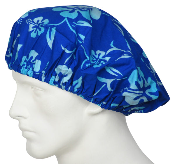 Bouffant Surgical Hats Lava Flowers Royal
