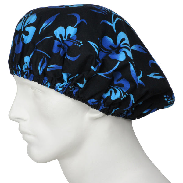 Bouffant Surgical Hats Lava Flowers Black