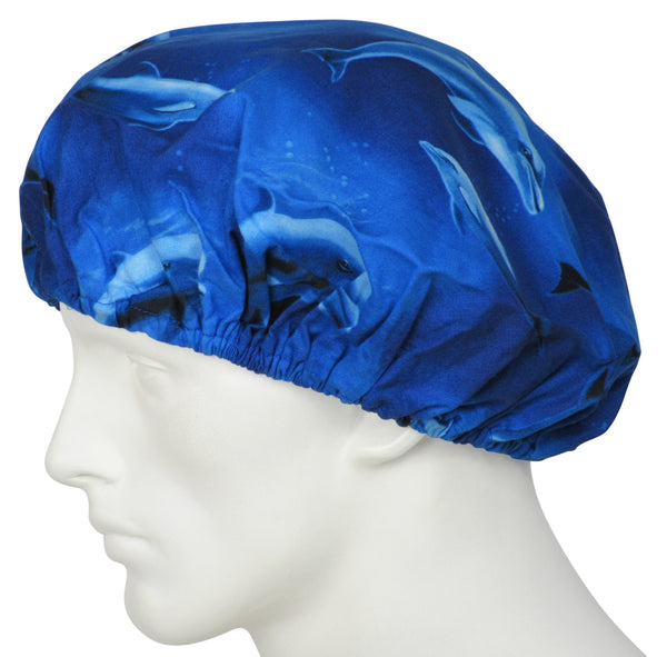 Bouffant Surgical Hats Dolphins