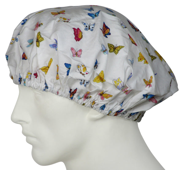 Bouffant Surgical Hats Springtime Butterflys