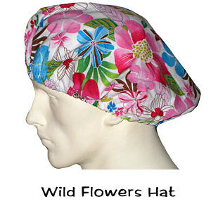 Bouffant Scrub Hats Wild Flowers