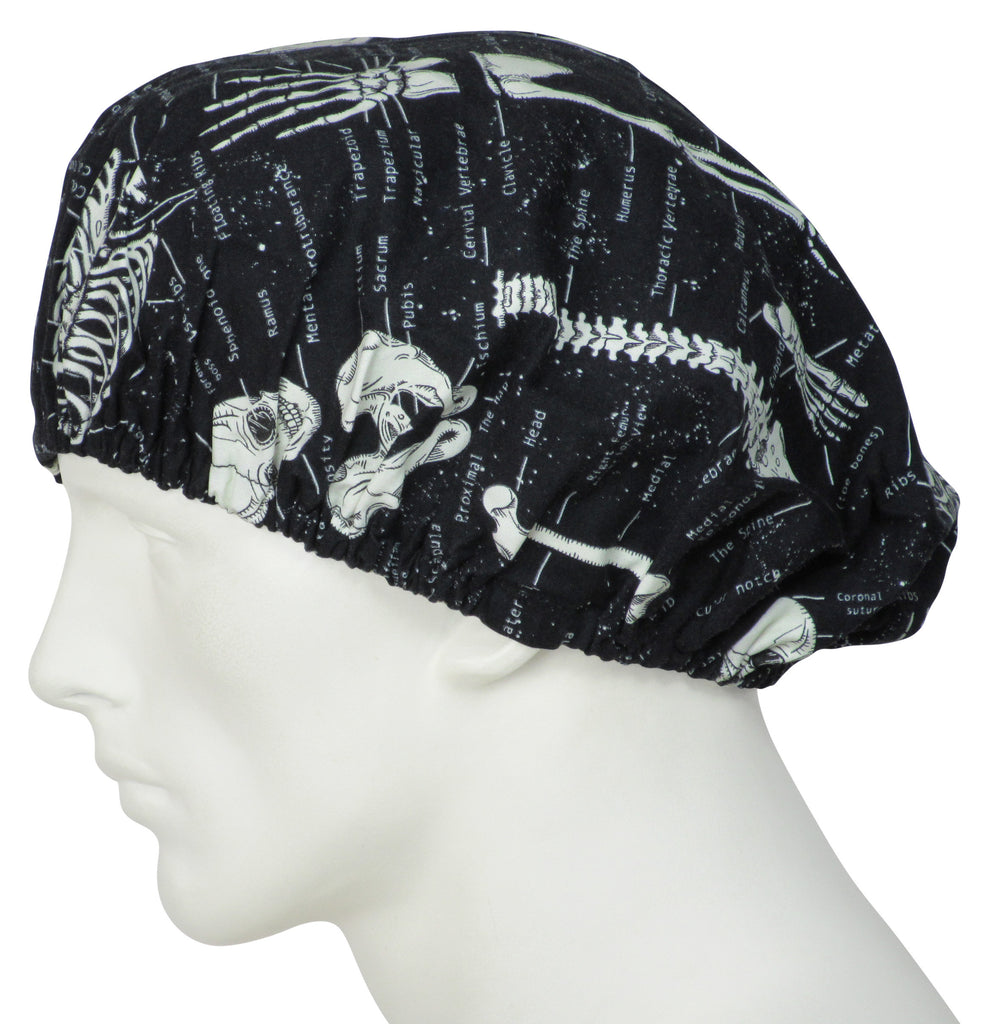 Bouffant Scrub Caps Skeletons