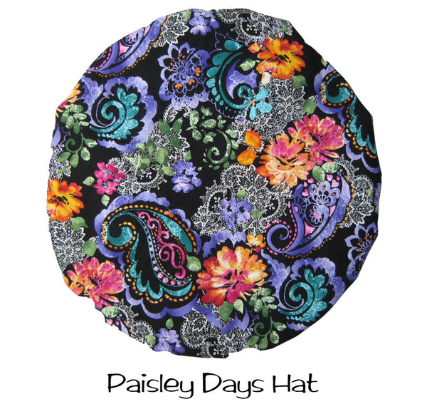 Bouffant Scrub Hat Paisley Days