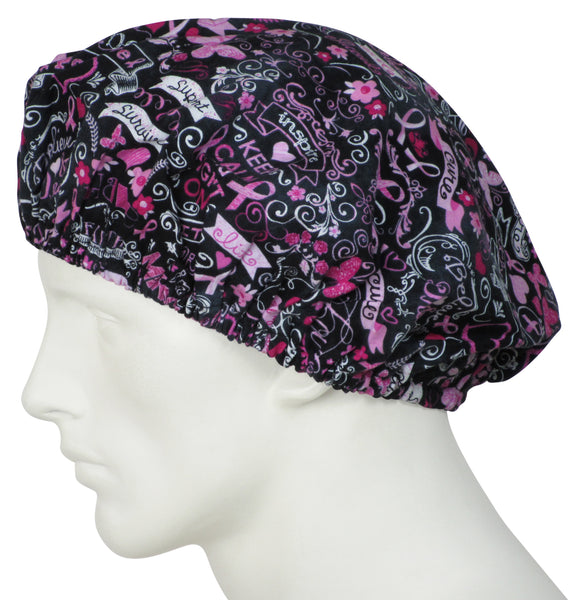 Bouffant Scrub Hats Pink Dreams
