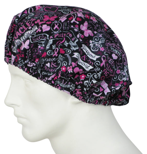 Bouffant Scrub Cap Pink Dreams