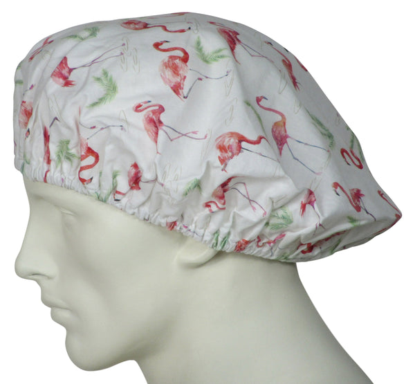 Bouffant Scrub Hats Flamingos