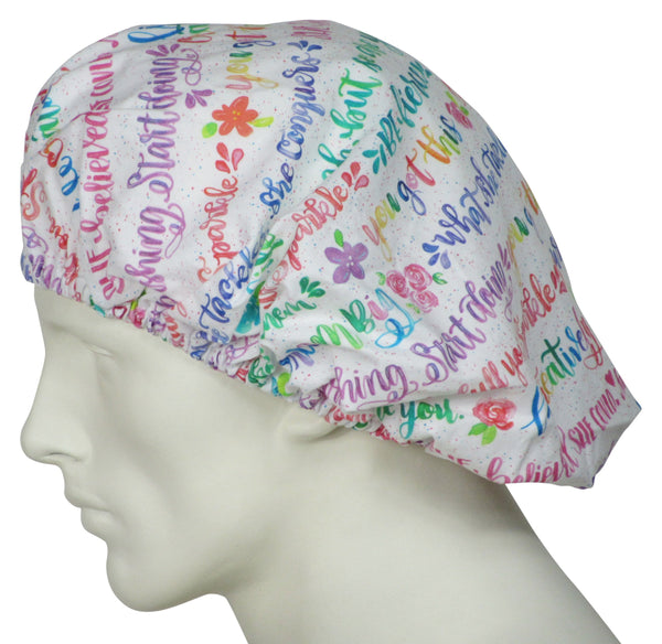Bouffant Scrub Hats Girl Power