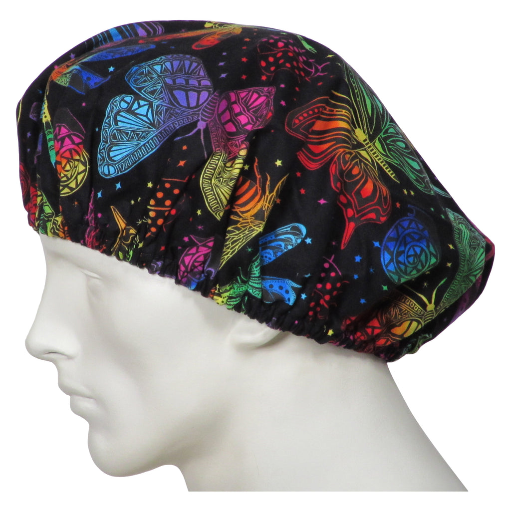 Bouffant Scrub Hats Butterfly World