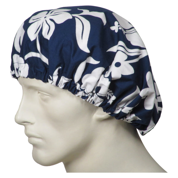 Bouffant Surgical Navy Lava Flowers Caps