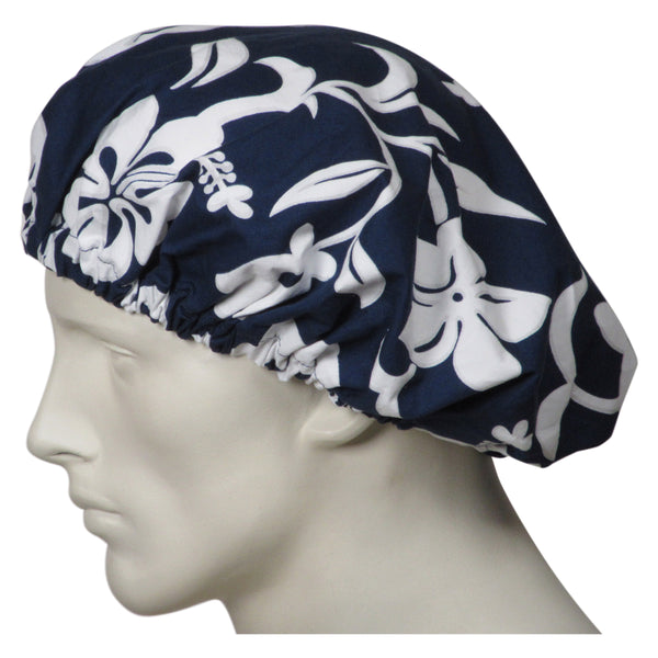 Bouffant Scrub Navy Lava Flowers Hats