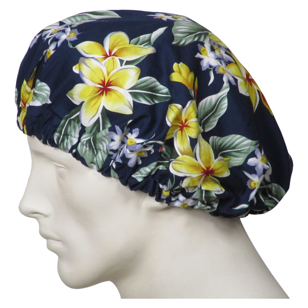 Bouffant Scrubs Island Flowers Hats