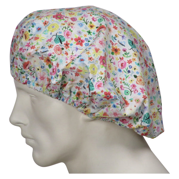 Bouffant Scrubs Caps Floral Days