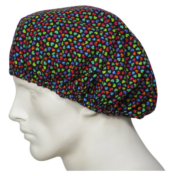 Bouffant Surgical Hats Rainbow Hearts