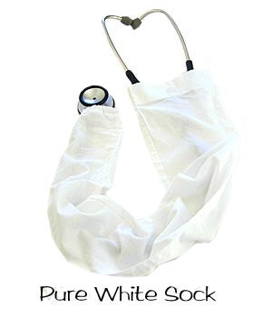 Stethoscope Cover Pure White