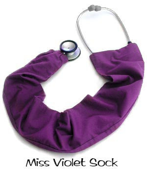 Stethoscope Sock Miss Violet