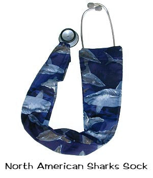 Stethoscope Covers North America Sharks
