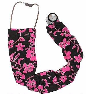 Stethoscope Socks Lava Flowers Pink