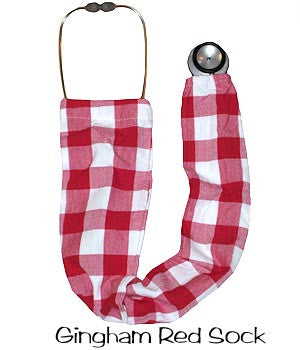 Stethoscope Covers Gingham Red