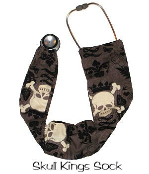 Stethoscope Covers Socks Skull Kings