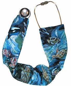 Stethoscope Sock Covers Belizean Reefs