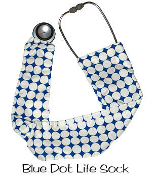 Stethoscope Covers Socks Blue Dot Life